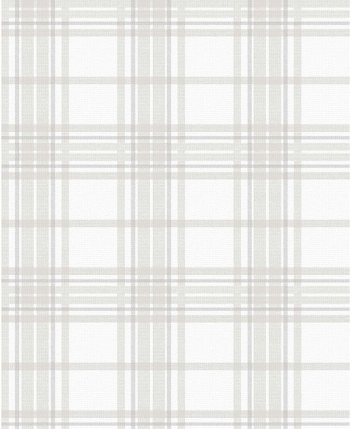 Graham & Brown - Country Tartan Charcoal Wallpaper