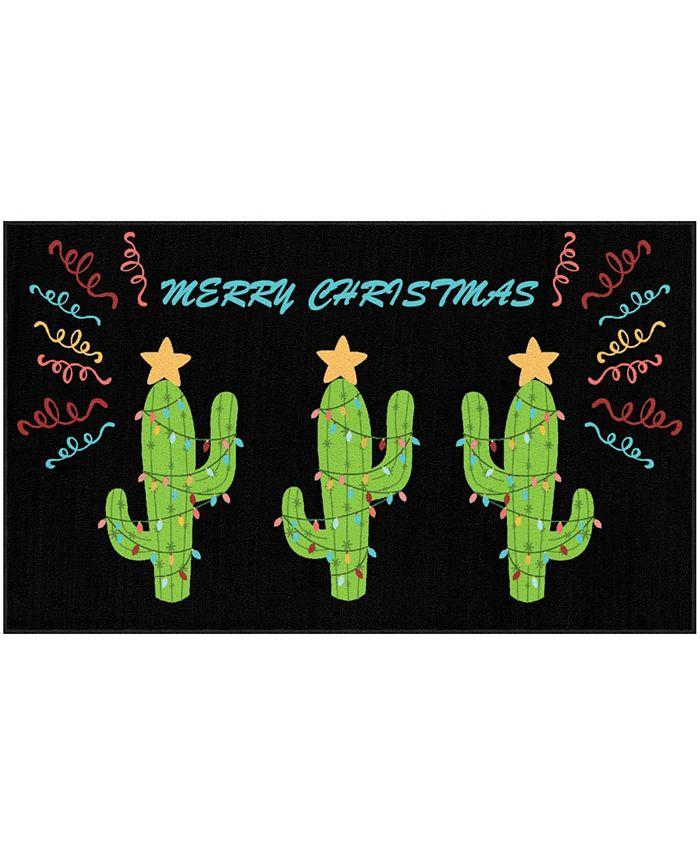 "Mohawk - Christmas Cactus Accent Rug, 30"" x 50"""