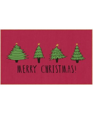 """Christmas Trees Accent Rug, 18"""" x 30"""""""