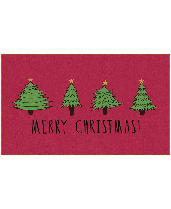 """Mohawk - Christmas Trees Accent Rug, 18"""" x 30"""""""