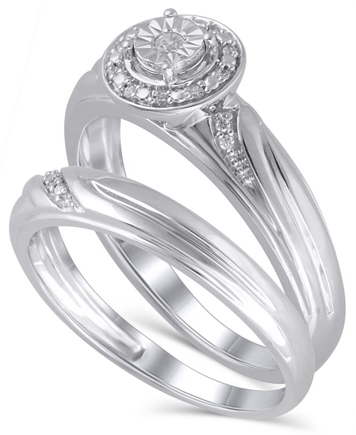 Macy's - Diamond (1/20 ct. t.w.) Bridal Set in 14K White Gold