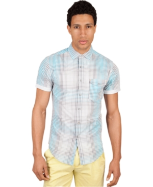 Marc Ecko Cut  Sew Shirt Short Sleeves Misbehavin Printed