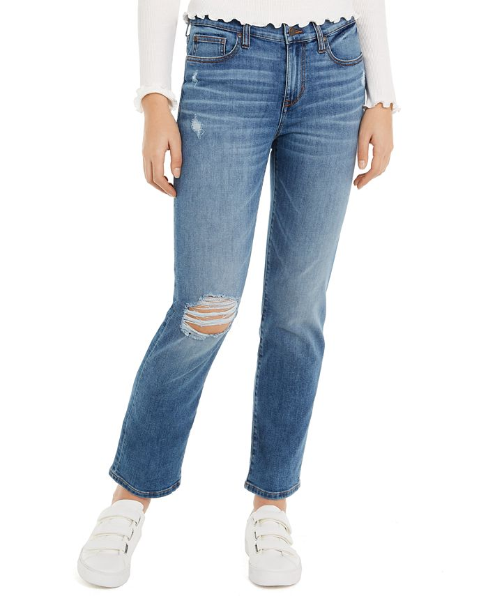 Celebrity Pink - Juniors' Girlfriend Ankle Jeans