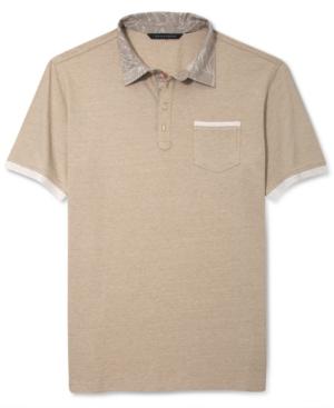 Sean John Shirt Panel Contrast Collar Polo Shirt