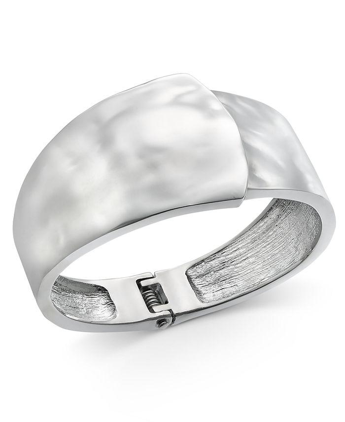 Alfani - Silver-Tone Sculptural Bangle Bracelet