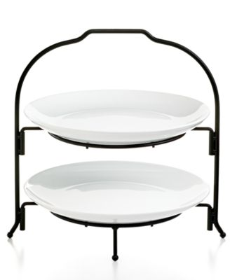 The Cellar Whiteware 2-Tier Round Coupe Buffet Server