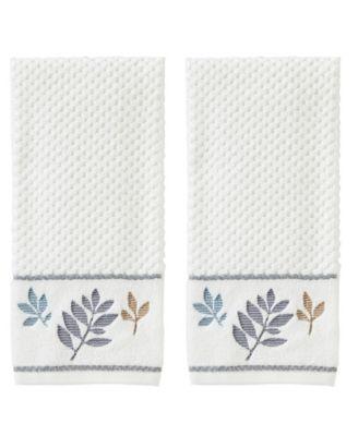 Pencil Leaves 2-Pc. Hand Towel Set