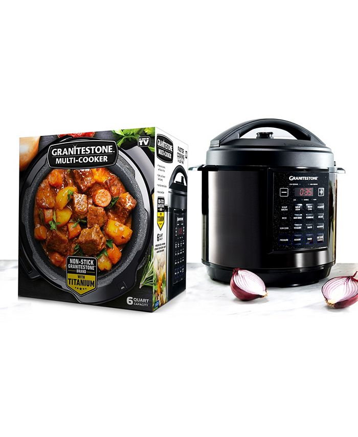 Granite Stone Diamond - 6 Qt. Triple Layer Titanium Coating Multi Cooker with Built-In Timer and Pre-Settings
