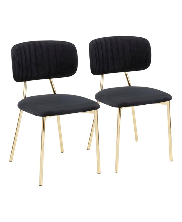 Lumisource - Bouton Gold Frame Dining Chair, Quick Ship (Set of 2)
