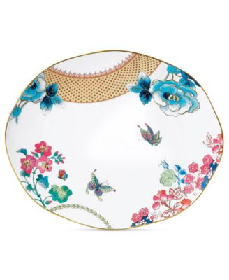 Wedgwood Dinnerware, Butterfly Bloom Oval Platter