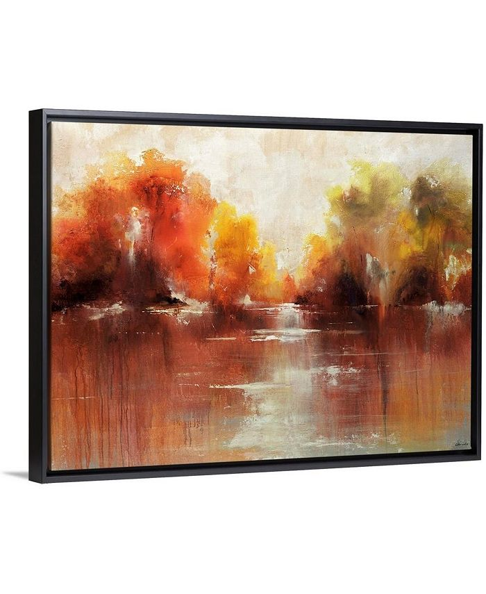 "GreatBigCanvas - 40 in. x 30 in. ""Jeweled Water"" by  Sydney Edmunds Canvas Wall Art"