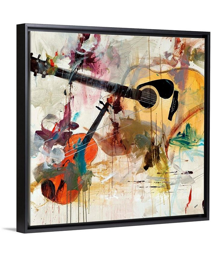 """GreatBigCanvas - 16 in. x 16 in. """"Fusion"""" by  Clayton Rabo Canvas Wall Art"""