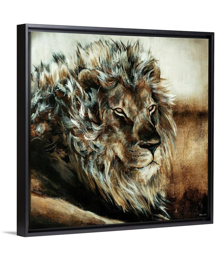 """GreatBigCanvas - 24 in. x 24 in. """"King of the Land"""" by  Sydney Edmunds Canvas Wall Art"""