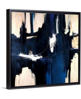 "'Caves' Framed Canvas Wall Art, 36"" x 36"""