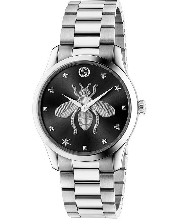 Gucci - Men's Swiss G-Timeless Stainless Steel Bracelet Watch 38mm