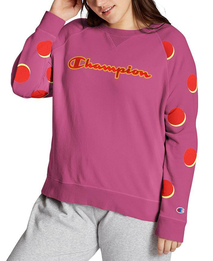 Champion - Plus Size Contrast-Sleeve Sweatshirt