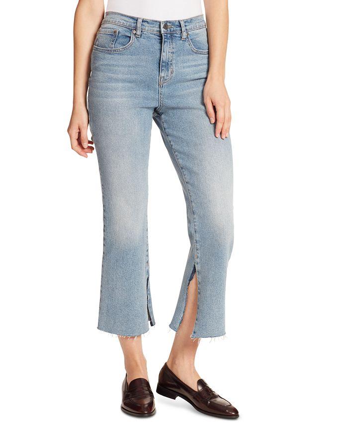Ella Moss - Slit-Hem Cropped Jeans