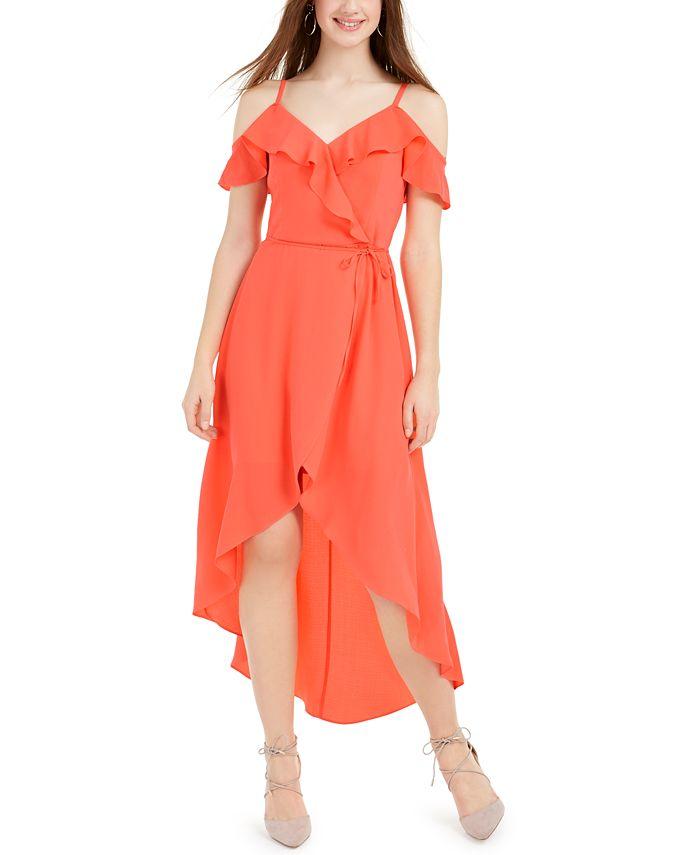 BCX - Juniors' Ruffled High-Low Dress