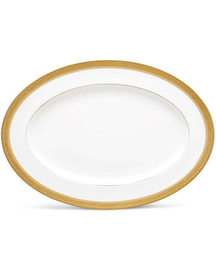 "Noritake - Summit Gold Oval Platter, 16"""