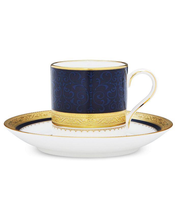 Noritake - Odessa Cobalt Gold After Dinner Cup & Saucer