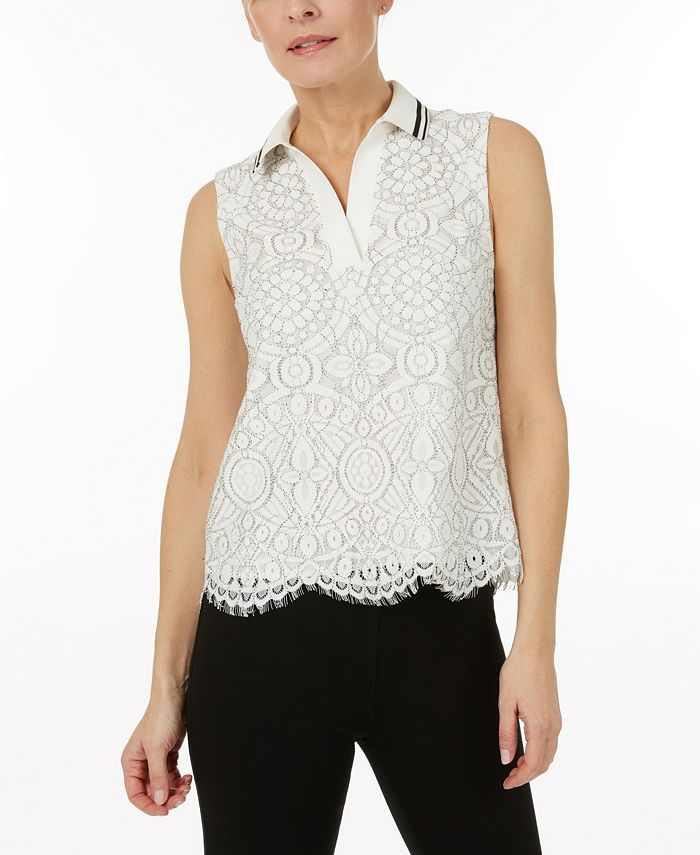Laundry by Shelli Segal - Sleeveless Lace Top