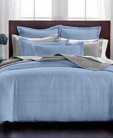 Charter Club Damask Windowpane 3-Pc. Full/Queen Duvet Set, 550-Thread Count Supima Cotton, Created for Macy's