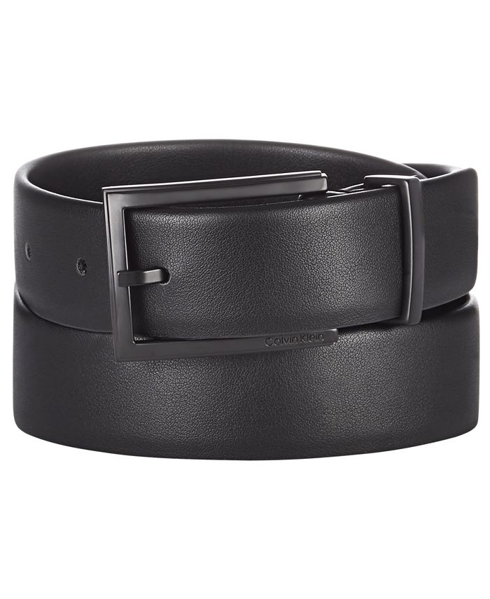 Calvin Klein - Men's Bevel-Edge Leather Belt