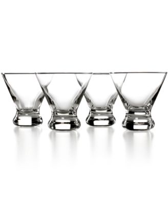 The Cellar Glassware, Set of 4 Stemless Martini Glasses