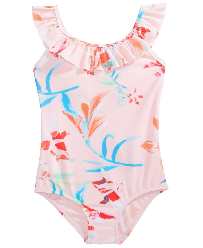 Ideology Little Girls Floral Print One Piece Swimsuit Created For Macy S Reviews Swimwear Kids Macy S