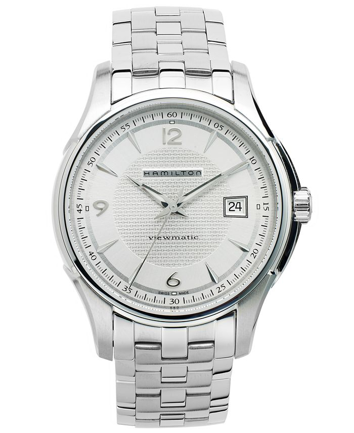 Hamilton - Watch, Men's Swiss Automatic Jazzmaster Viewmatic Stainless Steel Bracelet 40mm H32515155