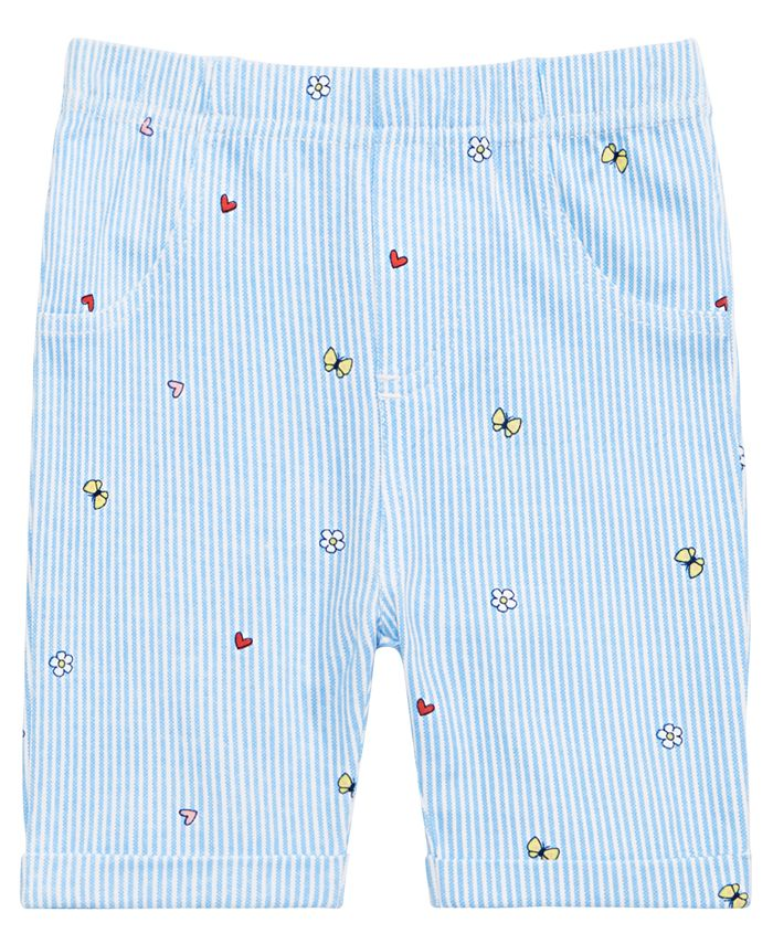 First Impressions - Baby Girls Gingham Bermuda Shorts