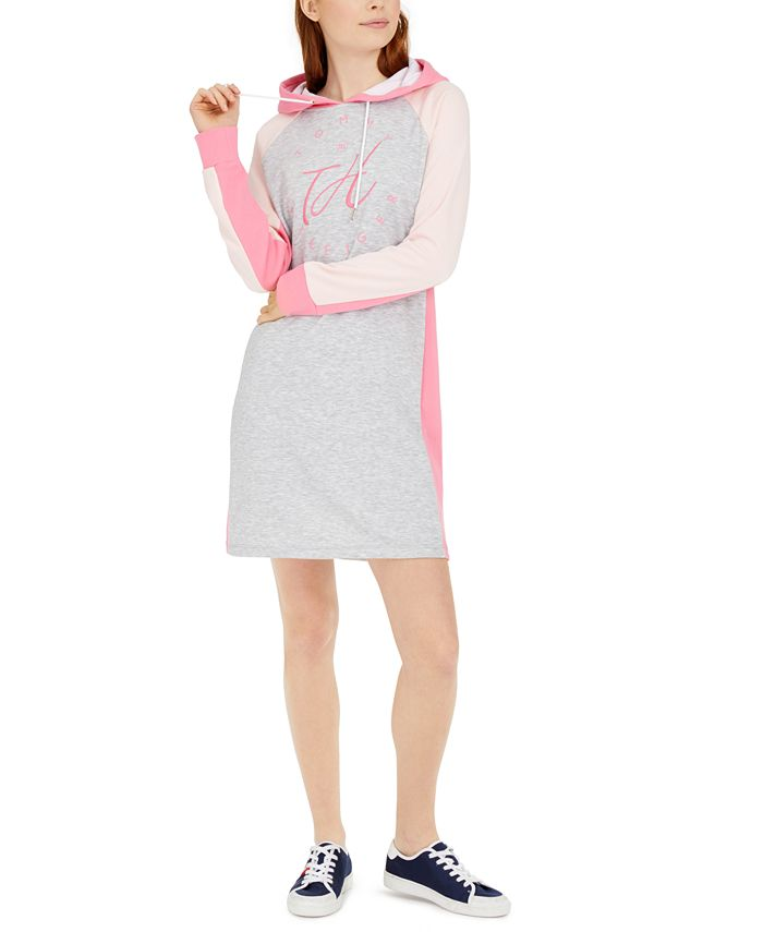 Tommy Hilfiger - Colorblocked Cotton Hoodie Dress