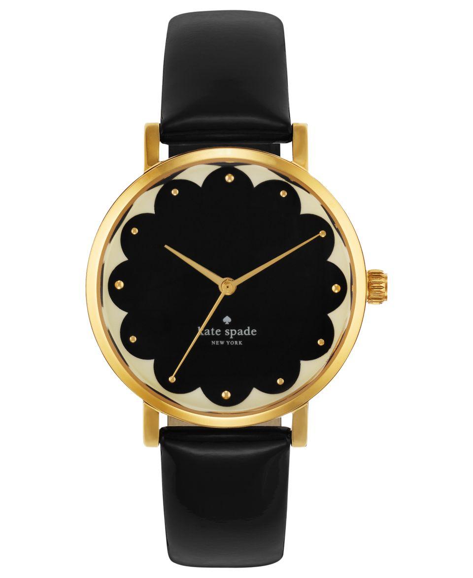 kate spade new york Watch, Womens Metro Black Leather Strap 34mm 1YRU0227   Watches   Jewelry & Watches