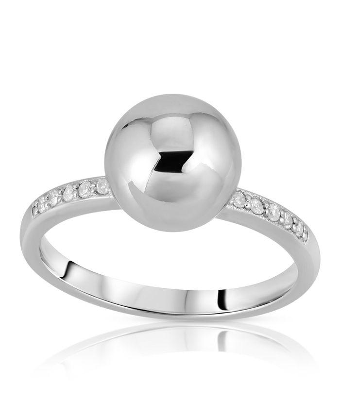 Macy's - Brilliant Bubbles Diamond ( 1/10 ct. t.w. ) Side Line Ring Designed in Sterling Silver, 14k Yellow Gold over Sterling Silver or 14k Rose Gold over Sterling Silver