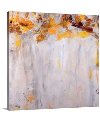 """Beethoven in Yellow' Framed Canvas Wall Art, 36"""" x 36"""""""