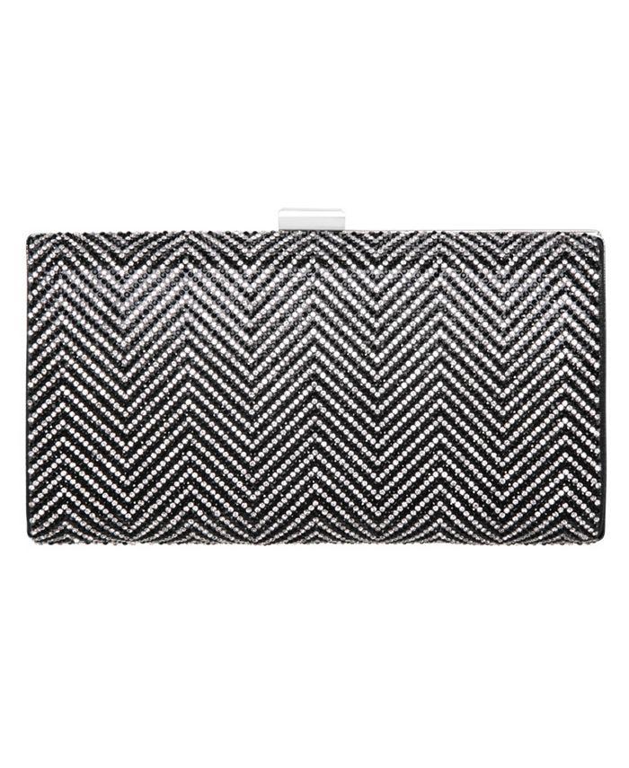 Nina - Crystal Herringbone Pattern Clutch