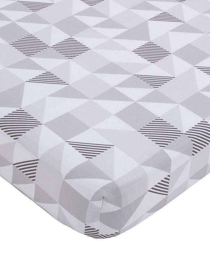 NoJo - NoJo Modern Geometric Print Fitted Crib Sheet