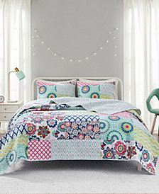 Intelligent Design Sunny 3-Piece Full/Queen Reversible Coverlet Set