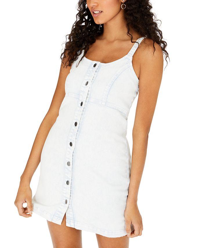 Tinseltown - Juniors' Sleeveless Denim Dress