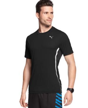 Puma Shirt PE Running ShortSleeved Flatlock TShirt