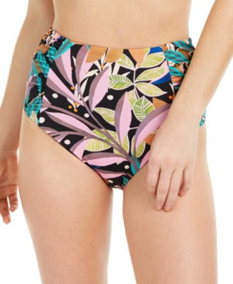 Hidden Jungle Printed High-Waist Bikini Bottoms, Created for Macy's