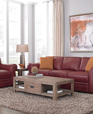 Carmine Leather Sofa Living Room Furniture Sets Pieces