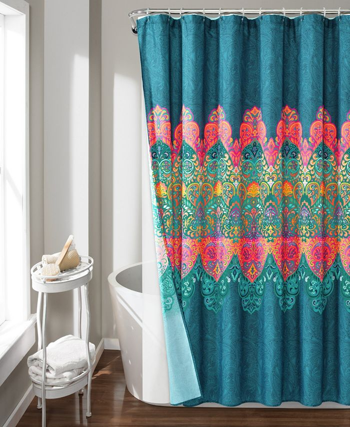 Lush Décor - Boho Chic 14Pc Shower Curtain Set