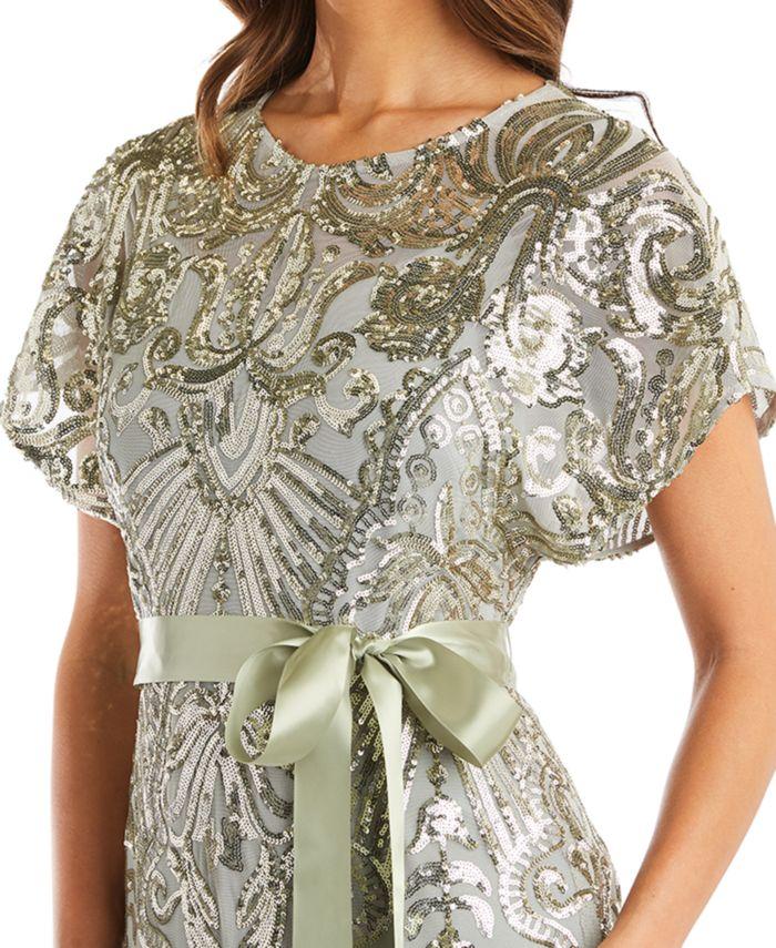 R & M Richards Petite Allover-Sequin Gown & Reviews - Dresses - Petites - Macy's