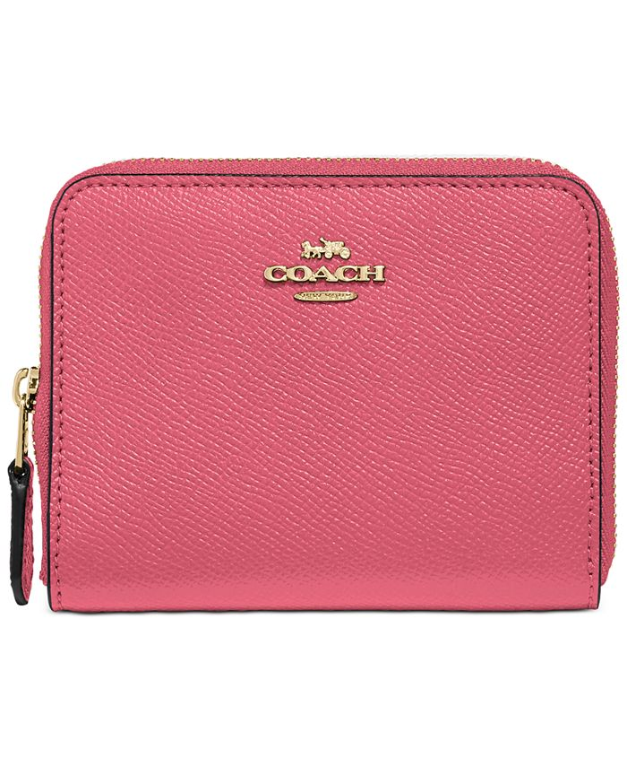 COACH - Crossgrain Leather Small Zip Around Wallet