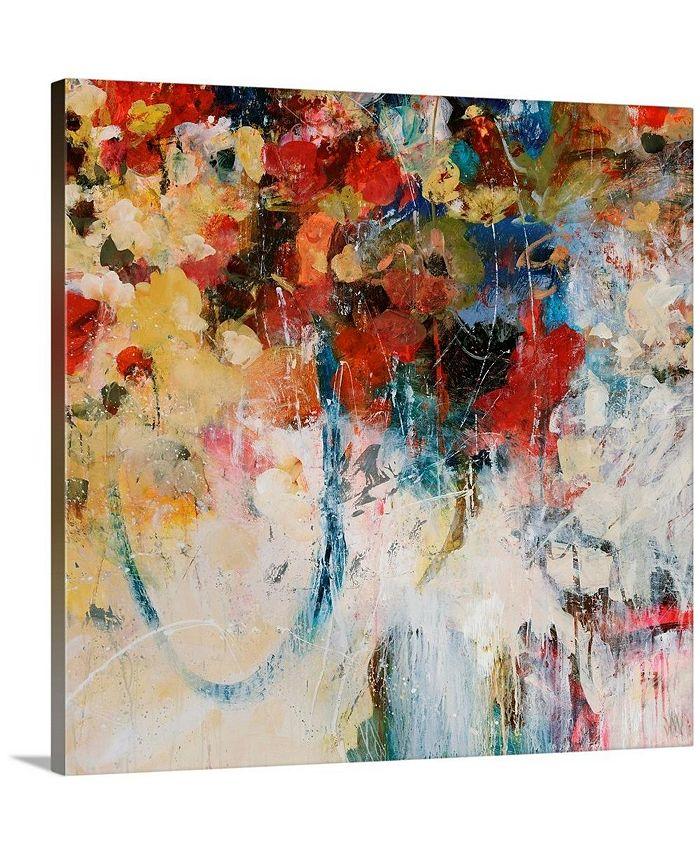 """GreatBigCanvas - 24 in. x 24 in. """"Bouquet Toss"""" by  Jodi Maas Canvas Wall Art"""