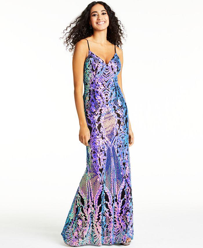 City Studios - Juniors' Sequin Gown