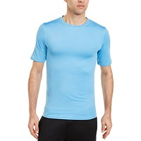 Club Room Men's Solid Short Sleeve Rash Guard