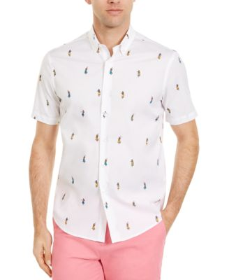 Men's Hula Girl Print Stretch Short Sleeve Shirt, Created for Macy's