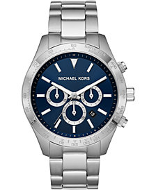 Michael Kors Men's Chronograph Layton Stainless Steel Bracelet Watch 45mm